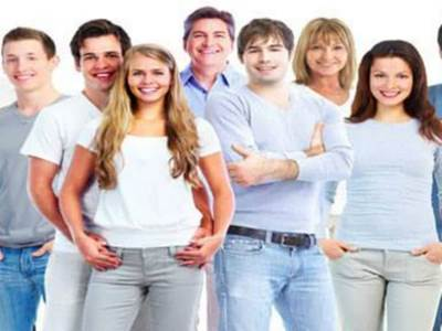 Young Adults in Blue Jeans