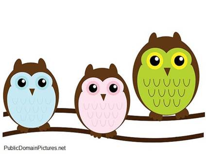 Cartoon of three owls