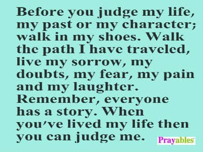 Prayables Life Quotes Inspiration Before You Judge My Life