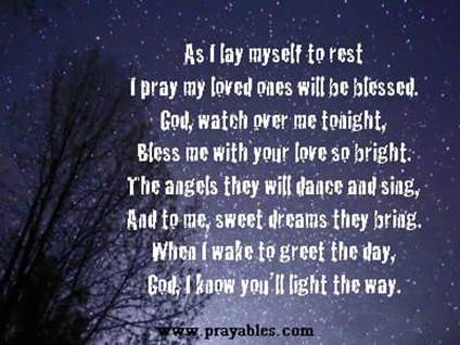 prayers before bed for adults