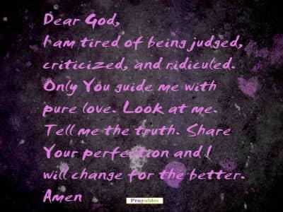 prayer for change