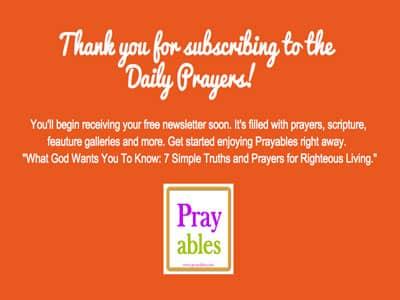 free daily prayers