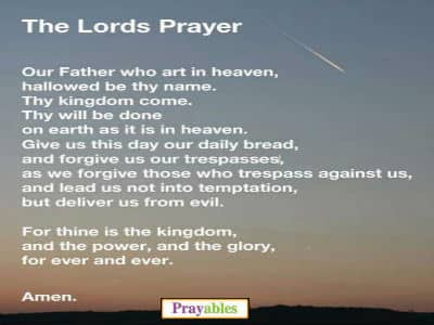 Prayables - Cherished All Time Favorite Prayers - Lord's Prayer